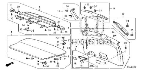 Honda Online Store Crv Tailgate Lining Parts