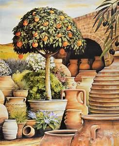 Mediterrane Gärten Bilder : unbekannter kuenster mediterrane landschaft poster kunstdruck bei ~ Orissabook.com Haus und Dekorationen