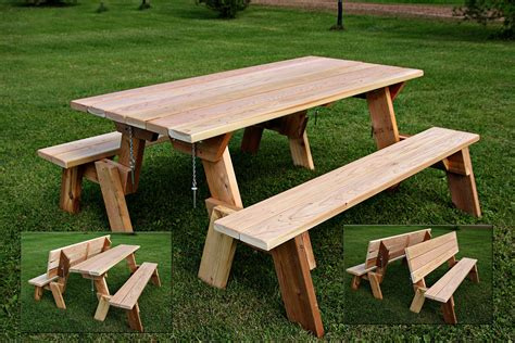 "Large 72"" Combination Folding Picnic Table & Park Bench"