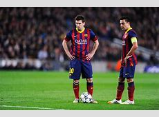 Lionel Messi Xavi Hernandez Photos FC Barcelona v Club