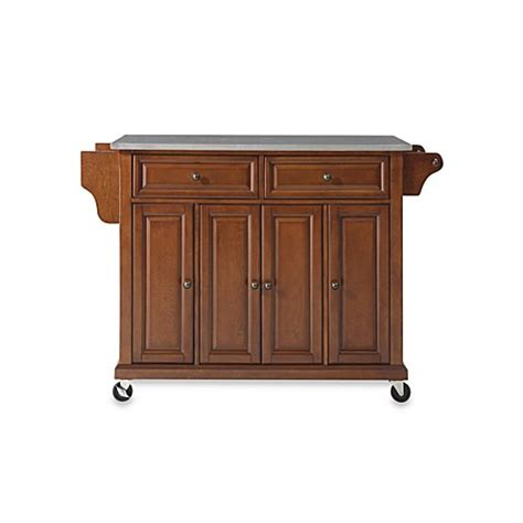 kitchen island cart with stainless steel top buy crosley rolling kitchen cart island with stainless 9799
