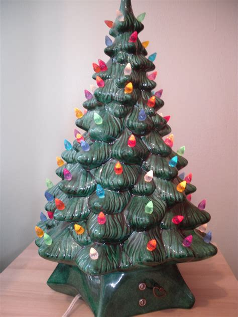 how to make a ceramic christmas tree vintage ceramic tree 19 lighted box