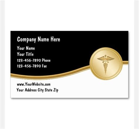 medical business card templates  ai ms word