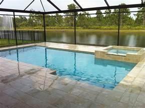 Rectangular Back Yard with Pool