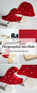 Holzfiguren Selber Machen : diy fliegenpilze dekoration aus holz mit dieser anleitung selber machen alle diys von ~ Orissabook.com Haus und Dekorationen
