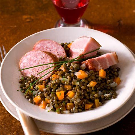 cuisine pratique et facile petit salé aux lentilles facile et pas cher recette sur