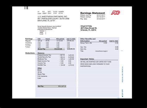 paycheck stubs set adp   fake documents