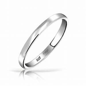 925 Sterling Silver Wedding Band Thumb Toe Ring 3mm