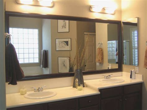 Elegant Bathroom Double Sink Mirrors For Vanities Over