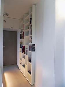 petit appartement de 40m2 cuisine entree salon dressing With porte d entrée pvc avec accessoires salle de bain paris