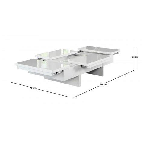 tables basses tables et chaises lumina table basse design avec rangements laqu 233 e blanc