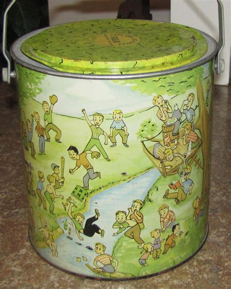 1950's Cape Cod Frolic Metal Lunchbox Cooler Exc Cond Kid