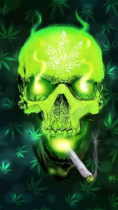 Weed Skull Marijuana Wallpapers Smoke Cool Phoenix