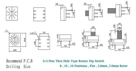 Manual Change Over Switch Position Smd Rotary Dip