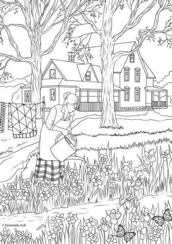 country spring spring flowers spring coloring pages adult coloring pages printable adult