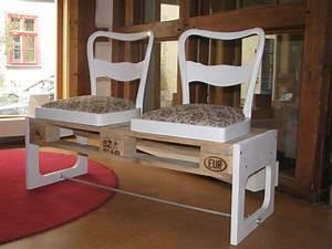 Sitzbank Aus Europaletten : eine sitzbank aus einer alten europalette und 2 alten st hlen erfurt paletten m bel ~ Sanjose-hotels-ca.com Haus und Dekorationen