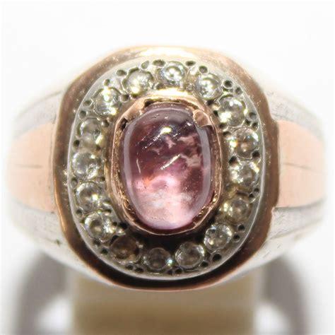 jual beli cincin batu pink safir ceylon mata udang