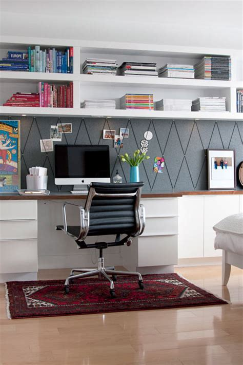 Get This Look Easy Home Office With Wall Shelving