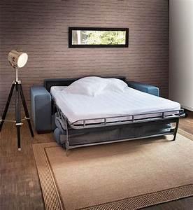 Revgercom canape lit convertible couchage quotidien for Canapé 3 places pour decoration maison design intérieur