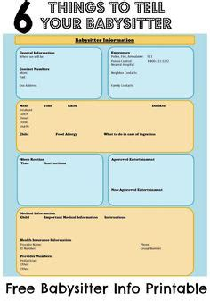 printable emergency plan templates littles nanny