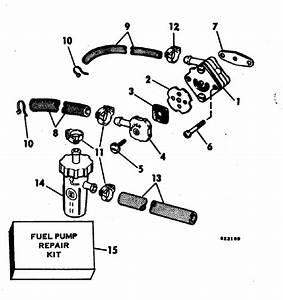Evinrude Fuel Pump Parts For 1982 15hp E15rcnc Outboard Motor