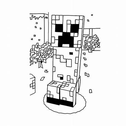 Minecraft Kleurplaat Kleurplaten Coloriage Creeper Exploderen Komen