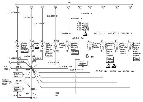 1997 Gmc Suburban Headlight Wiring Harnes by 1996 Suburban Interior L Module