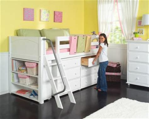 loft bed with desk for low ceiling girls low loft bed w ladder storage