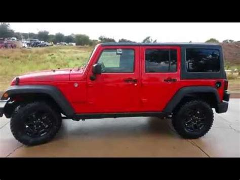 red jeep 2016 all new firecracker red 2016 jeep willys wheeler edition