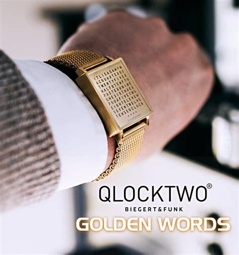 watchismo times biegert funk qlocktwo w golden words