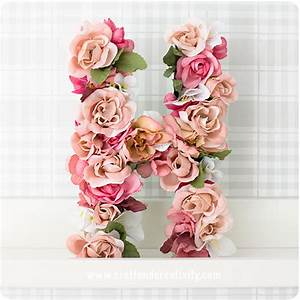 12 diy fresh flower crafts for summer parties and With fresh flower letters