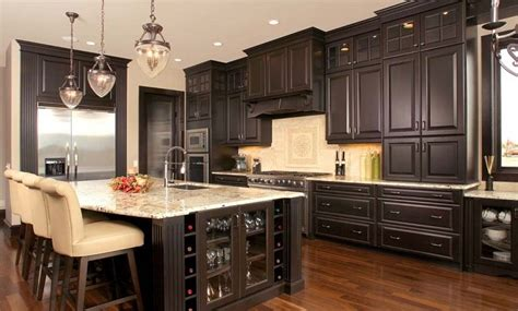 This is popular in contemporary or modern kitchens. Espresso kitchen cabinets - trendy color for your kitchen ...