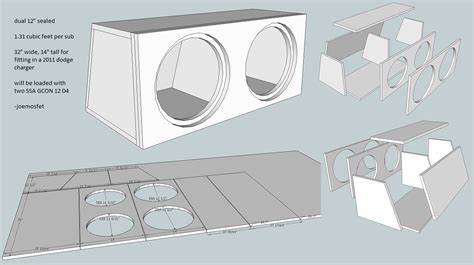 custom subwoofer box design custom sub box design dual 12 quot sealed dodge charger forum