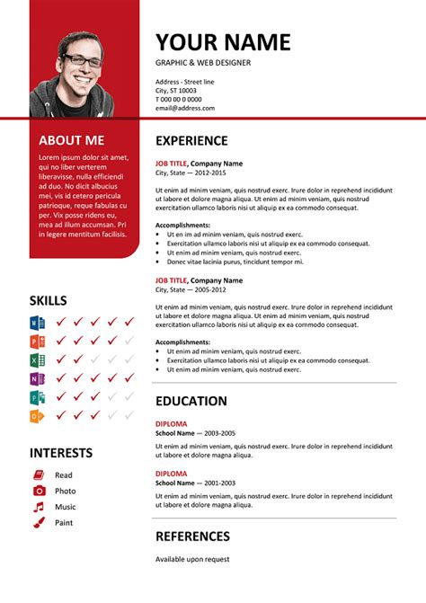 best cv template bayview stylish resume template