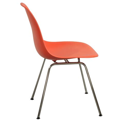 herman miller eames molded plastic side chair orange