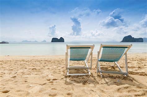 chaise longue de plage fonds d 39 ecran mer côte été chaise longue plage