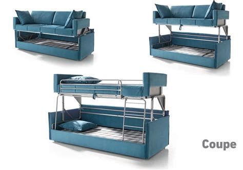 bunk bed settee coupe sofa sleeper bunk bed convertable modern