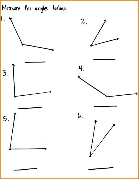 measuring angle worksheets kidz activities