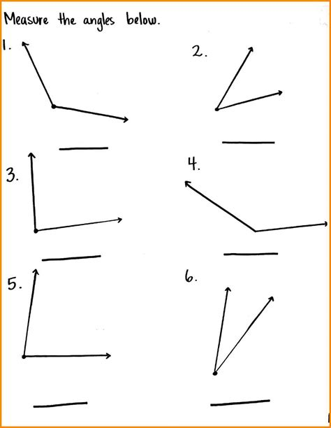 9+ Measure Angles Worksheet  This Is Design Stuff