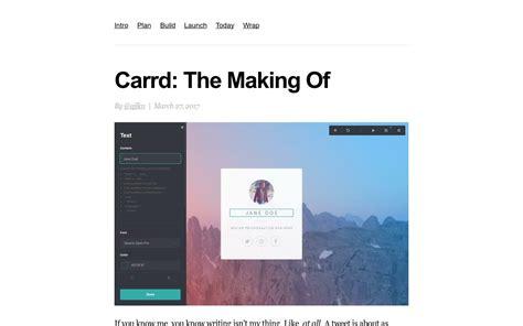 carrd  making