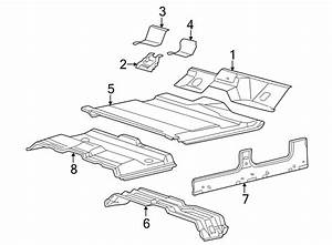 2002 Ford Excursion Floor Pan Crossmember  Front  Upper