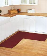 kitchen rugs and runners BERBER CORNER RUNNER TEXTURED KITCHEN RUG WITH NON-SKID ...