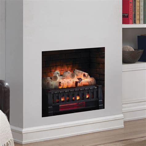 electric fireplace logs duraflame 20 quot birch electric fireplace log set dfi030aru 05