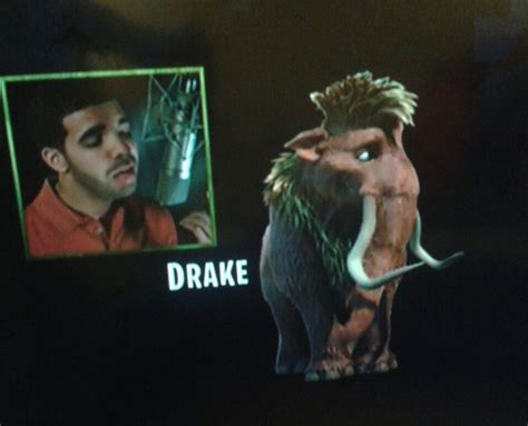 Drake, Voice Of Ethan, Ice Age 4  Ice Age Pinterest