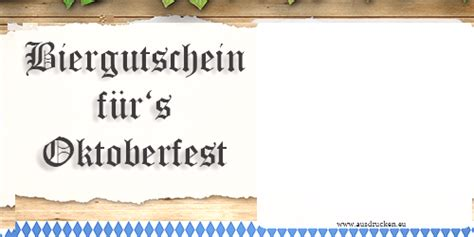gutschein oktoberfest oktoberfest ausdrucken von vorlagen