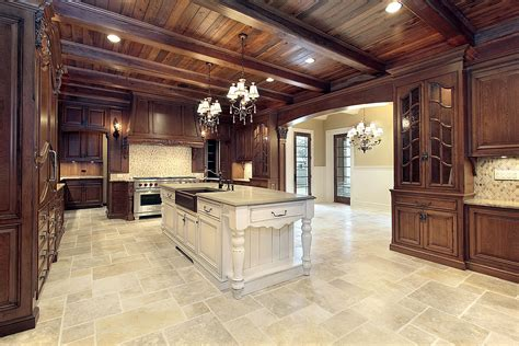 kitchen floor tile designs for a warm kitchen to have traba homes