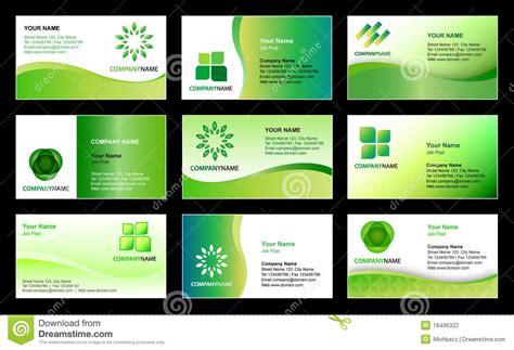 design template business card template design stock vector image 18496322