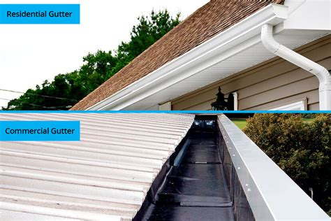 commercial gutters   residential gutters