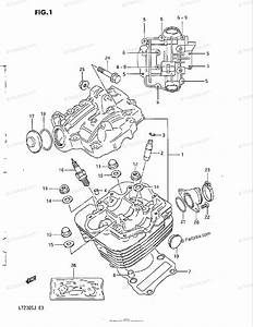 Suzuki Atv 1986 Oem Parts Diagram For Cylinder Head