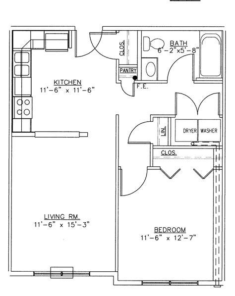 bedroom floorplan extraordinary two bedroom bungalow plans for one bedroom